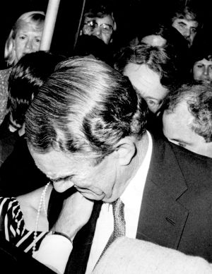 Malcolm Fraser cries after losing the 1983 election.