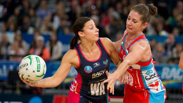 Home: Madi Robinson (left, versus Abbey McCulloch) is back with the Vixens