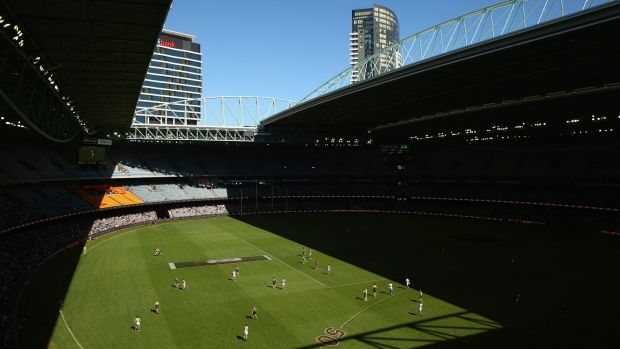 Neither here nor there: the half-open Etihad Stadium roof during Saturday's game.