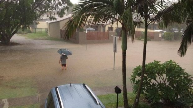 Afternoon storms caused flash flooding around the south-east on Sunday.