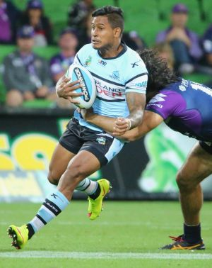 Suspended: Sharks five-eighth Ben Barba, who is serving a two-match ban, was at the nightspot where Dane Nielsen is ...