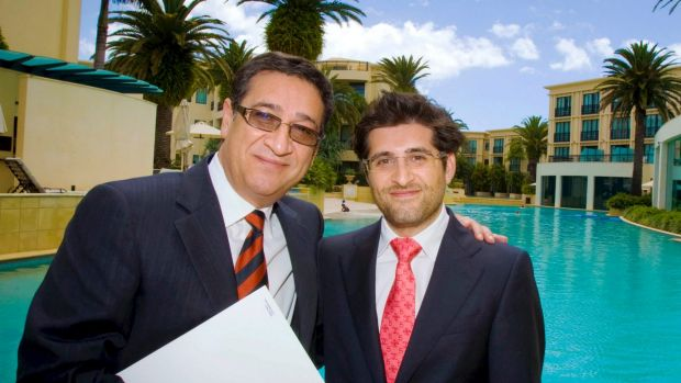 Property developer Soheil Abedian (left), chairman of Sunland, runs the company with his son, Sahba Abedian.