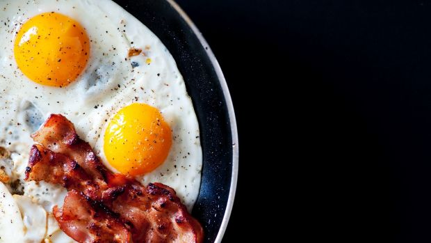 Bacon and eggs for better health? hold up.