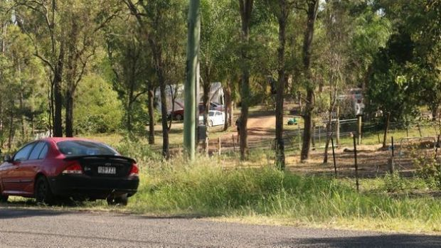 A property on Blokland St, Hatton Vale where a two-year-old boy named Caiden drowned in a dam.