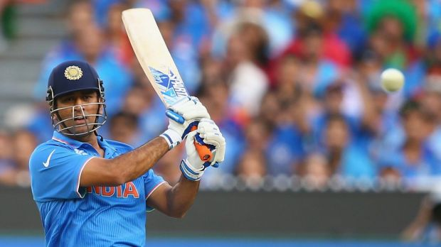 Leading from the front: Indian captain M.S. Dhoni.