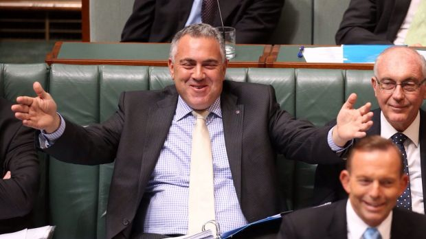 Treasurer Joe Hockey in Parliament on Tuesday.