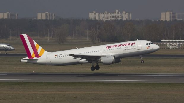 Tragedy: A Germanwings Airbus A320 similar to the one that crashed in the French Alps.