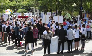 Student protesters slam the government's proposed higher education reforms at the ANU Wednesday afternoon.
