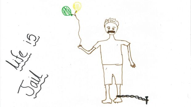 A picture drawn by a 10-year-old Nauru detainee.