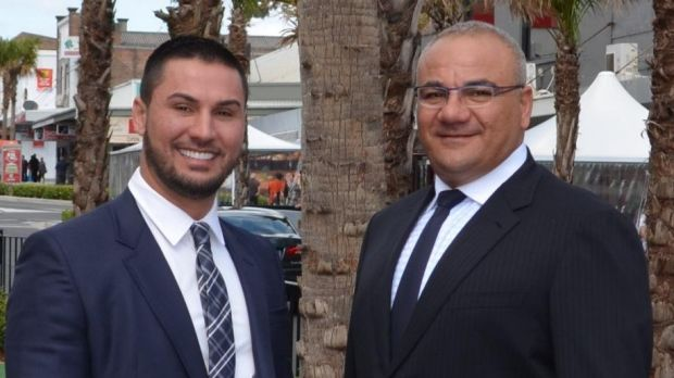 Salim Mehajer with his ally Liberal councillor Ronney Oueik.