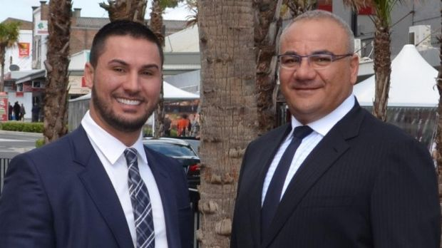Salim Mehajer (left) and Ronney Oueik.