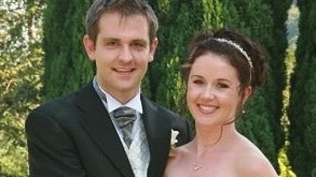 Jill Meagher with her husband Tom on their wedding day.