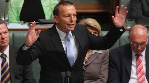 """Opposition Leader Tony Abbott ... supporter of """"sensibly negotiated"""" free trade agreements."""