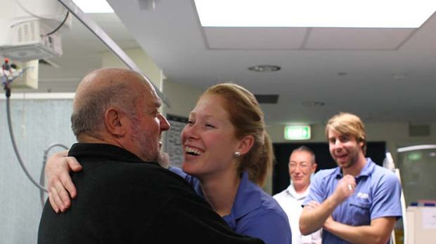 Grateful … Paul Bramley revisits RPA Hospital, above, to thank nurse Joanne Day and the others who helped to save ...