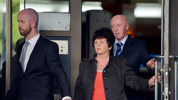 Jill Meagher's family - brother Michael McKeon, mother Edith and father George a leave court hearing.