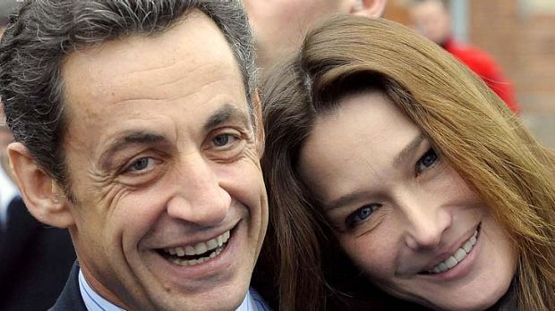 Happy couple ...Nicolas Sarkozy and his wife Carla Bruni-Sarkozy.