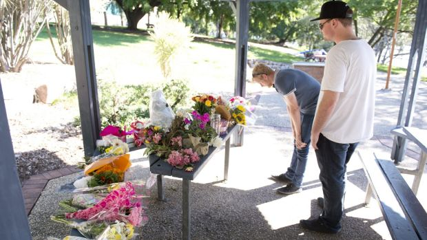 Mourners drop off Flowers at the site where Sophie Collombet was found.