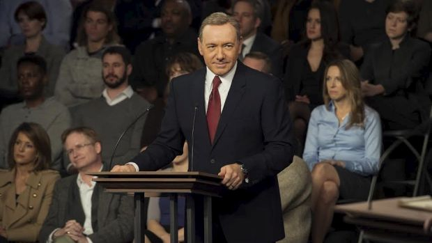 Kevin Spacey as President Frank Underwood in House of Cards.