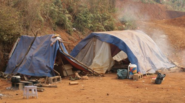 The living conditions for Myanmar refugees are makeshift and often squalid.