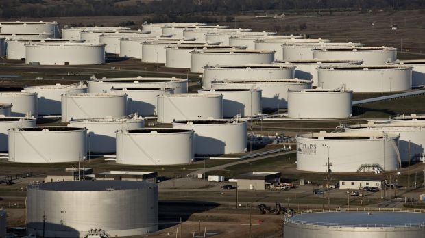 US inventories are forecast to have added 4.8 million barrels to record supplies last week.