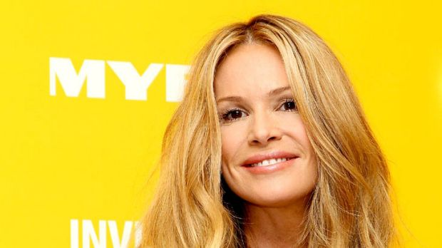 Golden girl ... Elle Macpherson's tan is fake these days.