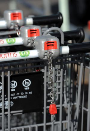 Coin lock systems and electronic wheel locks are being installed to reduce shopping trolleys being dumped and abandoned ...