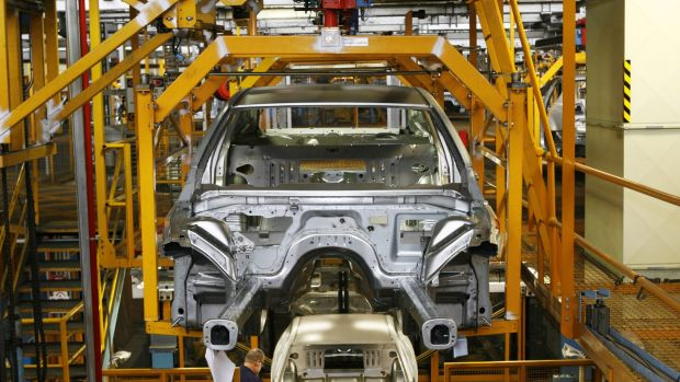 An manufacturing index pointed to robust conditions, despite continued drag from the automotive and mining segments.