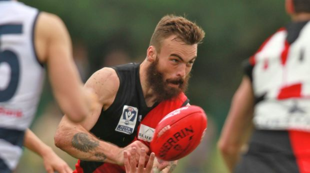 Hal Hunter playing in the VFL in 2013.