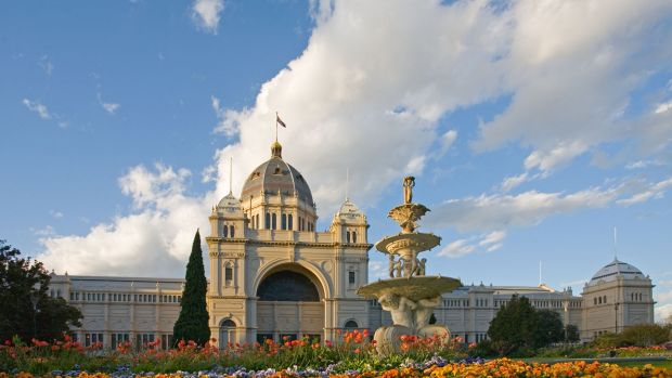 The Royal Exhibition Building and its  gardens were made for the great international exhibitions of 1880 and 1888.