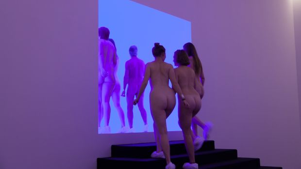 The first naked art tours of James Turrell: A Retrospective at the National Gallery of Australia. [2011-ongoing James ...