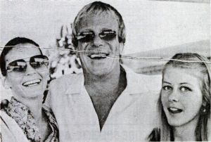 """Young and in love"": Thompson with Leona (at left) and Bunkie in 1974."