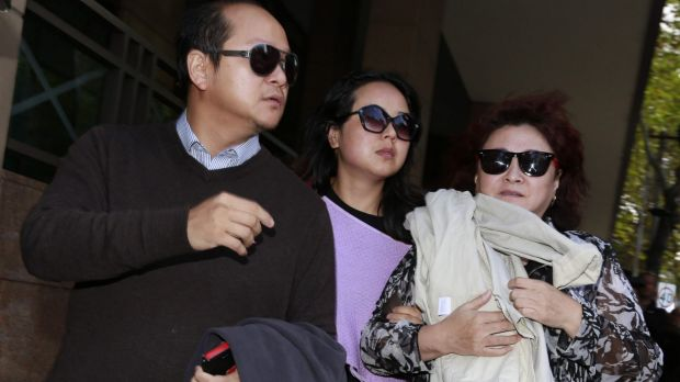 Family and friends of slain grandmother Mai Mach and four-year-old grandson Alistair Mach attend court for the remand ...