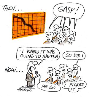 Why do people turn to economists for forecasts, even though they are hopeless forecasters? <i>Illustration: Ron Tandberg</i>
