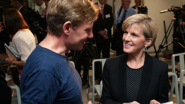 Bjorn Lomborg and Foreign Minister Julie Bishop at the innovationXchange hub launch last month.