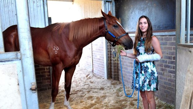 Canberra jockey Kalya Nisbet broke her leg on Monday, adding to a broken wrist and broken foot in the past year.