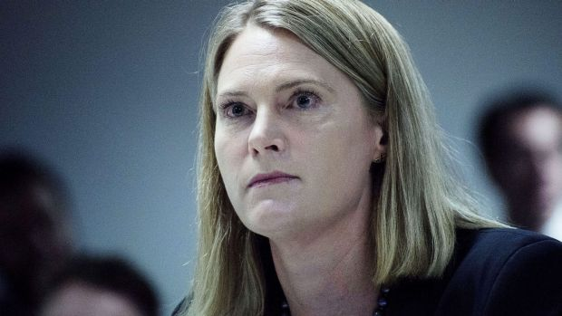 Maile Carnegie, managing director of Google Australia & New Zealand at the Corporate Tax Avoidance Hearing.