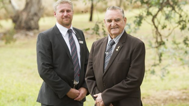 Rob Pickersgill and Keith Payne VC at the launch of the Soldier On, Hand Up program.