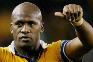 Good guy: Wendell Sailor during his Wallabies days.
