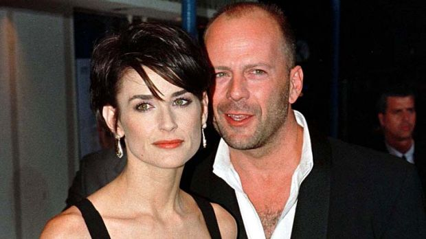 Separated ... Demi Moore and Bruce Willis, pictured in August 1997.