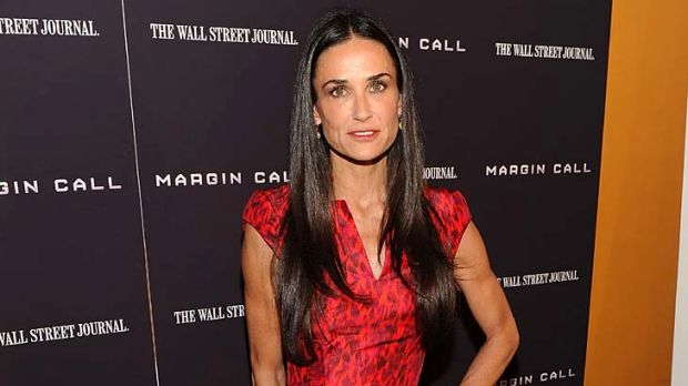 Lost weight ... Demi Moore attends the premiere of Margin Call last week.