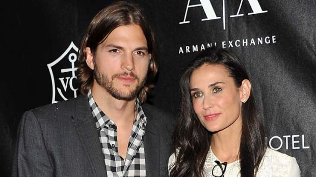 Married for six years ... Ashton Kutcher and Demi Moore.