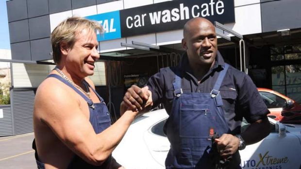 Double trouble ... Warwick Capper and Wendell Sailor in Celebrity Apprentice.