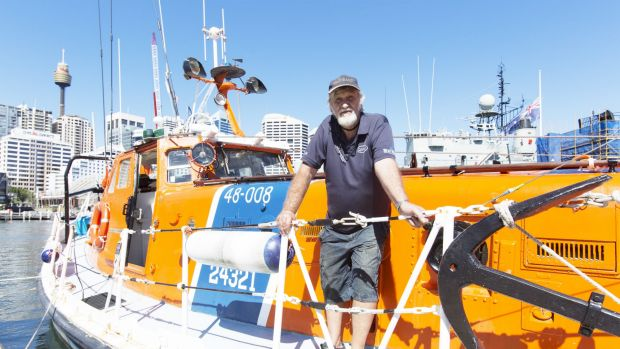 John Braeur onboard the Sea Guardian when it was moored at the Maritime Museum in Sydney. Originally named the Hope ...