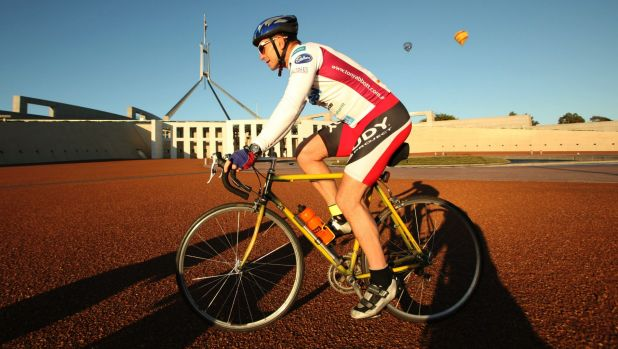 Tony Abbott is a keen bike rider, and took exception to one Canberra driver's behaviour.