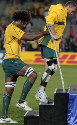 Sidelined … Quade Cooper.