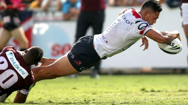 Spreading his wings: Dynamic Rooster Roger Tuivasa-Sheck is off to join the Warriors.