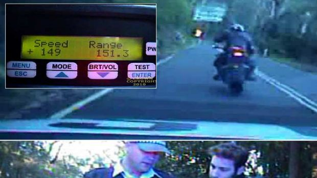 The view from the police camera ...  the road, the reading and the ticket that led to  $60,000-worth of legal action to ...