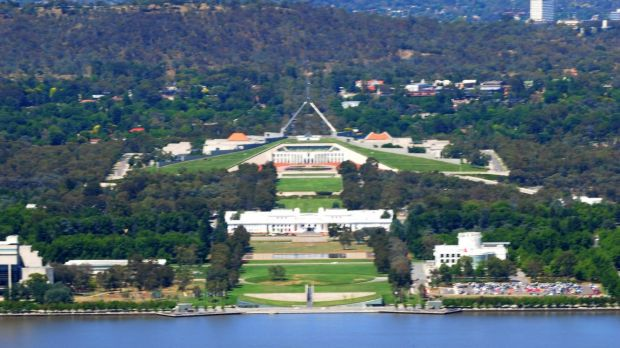 Inner-south Canberra seen from Mount Ainslie.