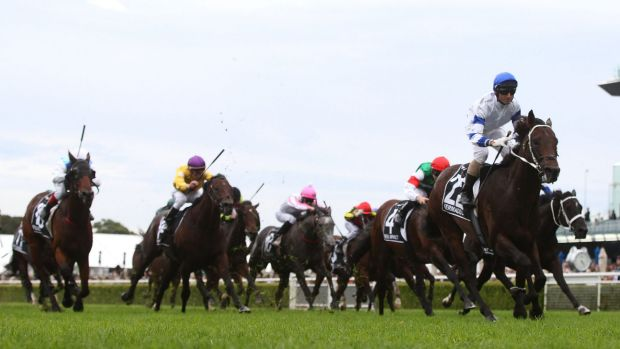 Glen Boss rides Kermadec to win The Doncaster Mile at Royal Randwick Racecourselast year.