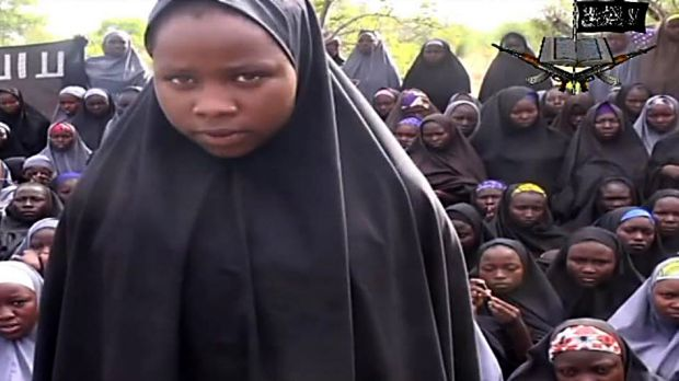 A screengrab from a video of Nigerian Islamist extremist group Boko Haram.
